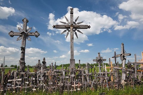 Framed Hill of Crosses, Siauliai, Central Lithuania, Lithuania I Print