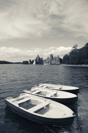 Framed Island Castle by Lake Galve, Trakai, Lithuania II Print