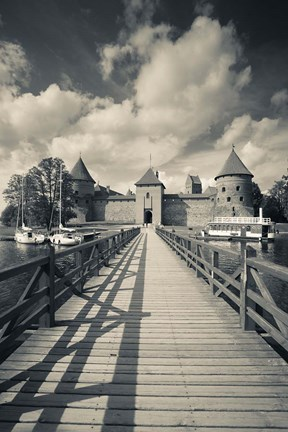 Framed Island Castle by Lake Galve, Trakai, Lithuania IV Print