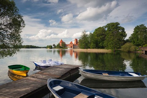 Framed Island Castle by Lake Galve, Trakai, Lithuania VII Print