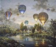 Balloon Glow  Fine Art Print