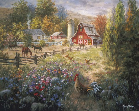 Grazing The Fertile Farmland Fine Art Print Nicky Boehme Fulcrumgallery
