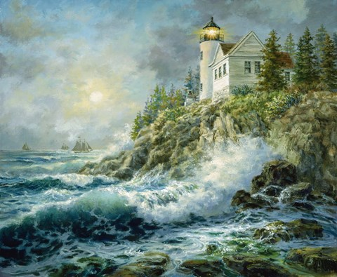 Framed Bass Harbor Lighthouse Print