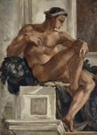 Ignudo, After Michelangelo, 1858-1860  Fine Art Print