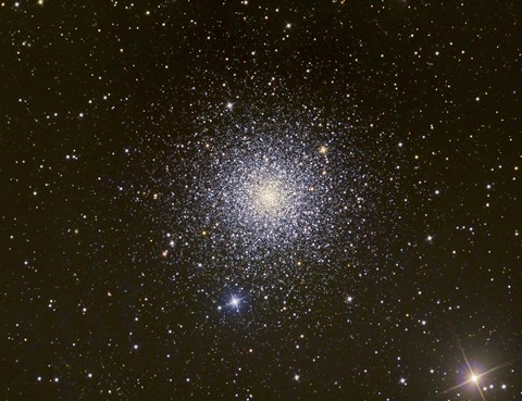 Framed Messier 3, a globular cluster in the Constellation Canes Venatici Print
