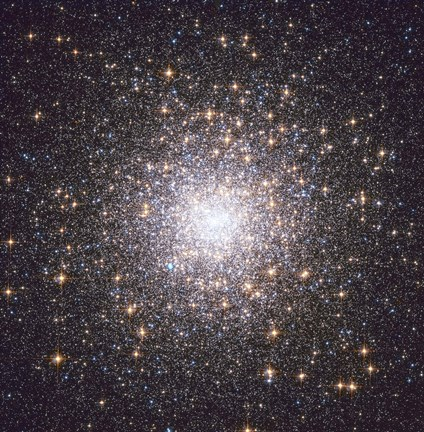 Framed Messier 15, globular cluster in the Constellation Pegasus Print