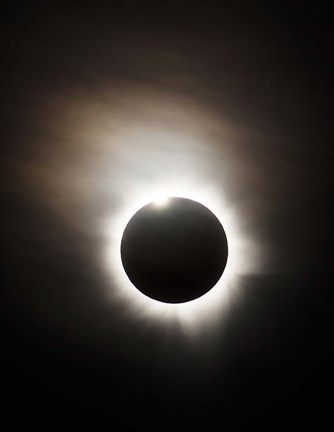 Framed Solar Eclipse with diamond ring effect, Queensland, Australia Print