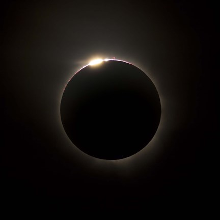 Framed Solar Eclipse with prominences and diamond ring effect Print