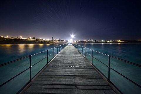 Framed Port Noarlunga After Dark Print