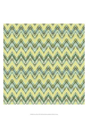 Framed Chevron Waves III Print