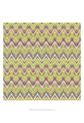 Framed Chevron Waves V Print