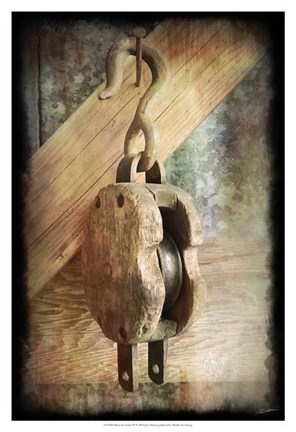 Framed Block & Tackle IV Print