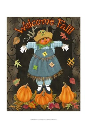 Framed Fall Scarecrow II Print