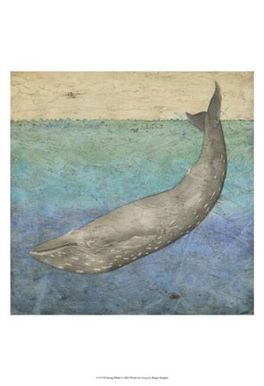Framed Diving Whale I Print