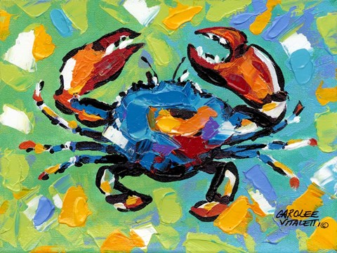 Framed Seaside Crab II Print