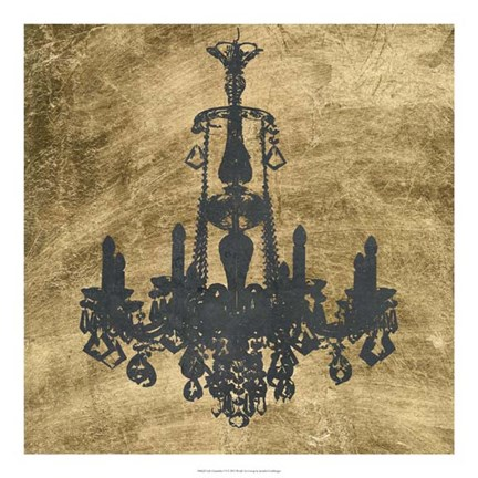 Framed Gilt Chandelier VI Print