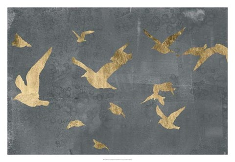 Framed Silhouettes in Flight III Print