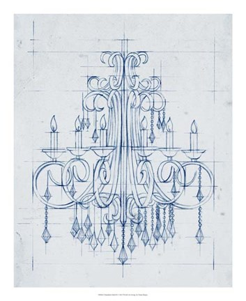Framed Chandelier Draft II Print