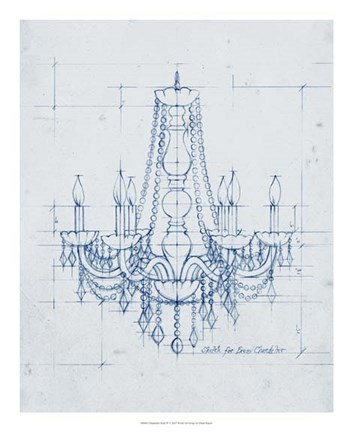Framed Chandelier Draft IV Print
