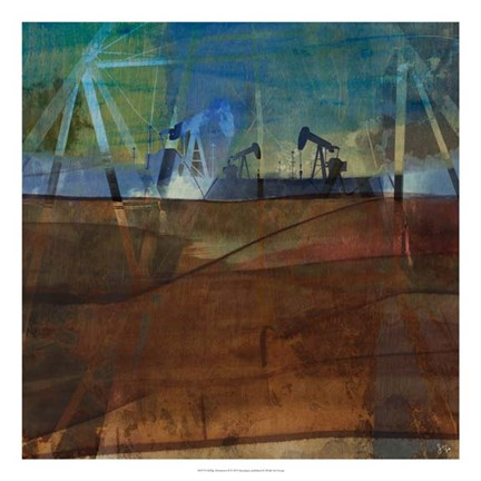Framed Oil Rig Abstraction II Print