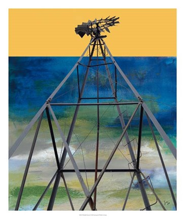 Framed Windmill Abstract Print