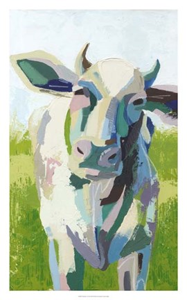 Framed Painterly Cow II Print