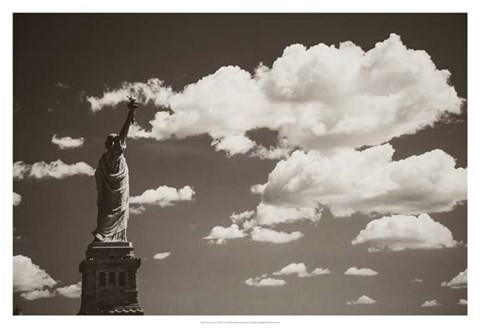 Framed Liberty in the Clouds Print
