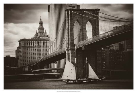 Framed Sailboat & the Bridge Print
