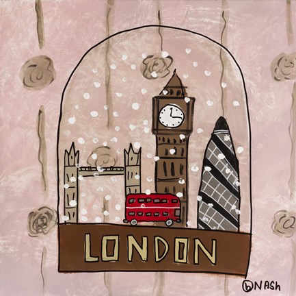 Framed London Snow Globe Print