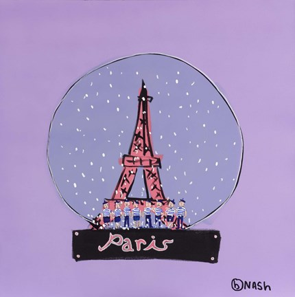 Framed Paris Snowglobe Print