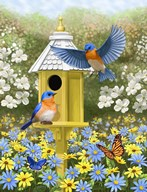 Bluebird Garden Home Art