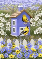 Goldfinch Garden Home  Fine Art Print