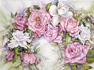 Arch Of Pink & White Roses  Fine Art Print