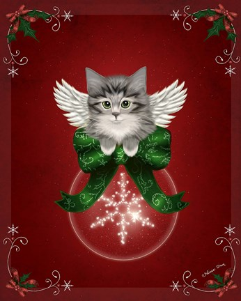 Happy Holidays Cat Fine Art Print By Melissa Dawn At