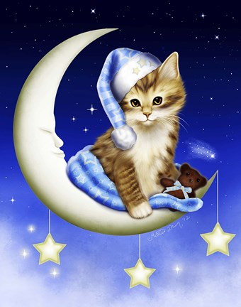 Goodnight Moonlight Fine Art Print By Melissa Dawn At