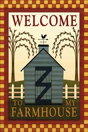 Framed Welcome to my Farmhouse Print