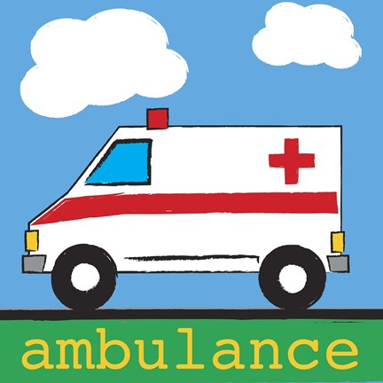 Framed Ambulance Print
