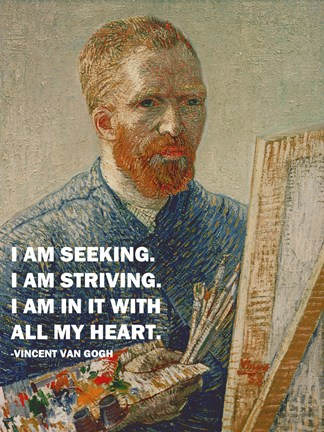 Framed Seeking -Van Gogh Quote Print