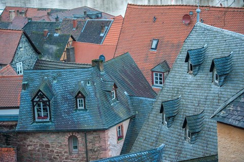 Framed Rooftops in Miltenberg, Germany Print