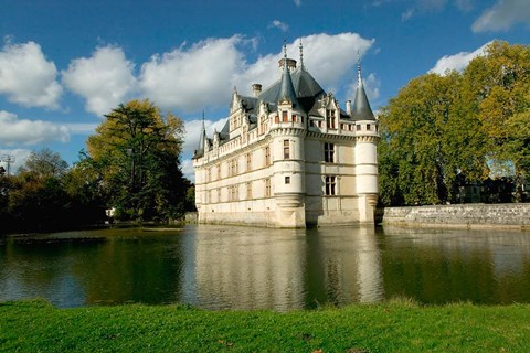 Framed Chateau of Azay-le-Rideau, Loire Valley, France Print