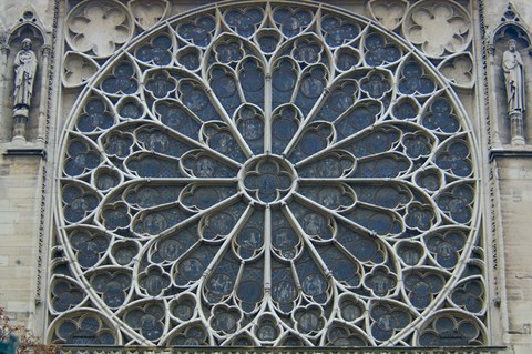 Framed South Rose Window of Notre-Dame, Paris, France Print