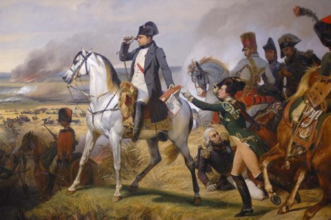 Framed Painting of Napoleon in Hall of Battles Print