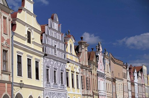 Framed Renaissance Houses of Telc Print