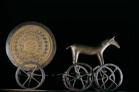 Framed Solar Disk with Chariot and Horse Replica Print