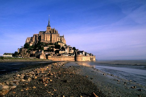 Framed Mont St Michel Island Fortress, Normandy Print
