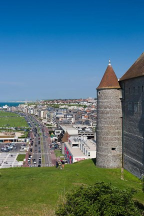 Framed Dieppe Chateau Musee Town Castle/Museum Print