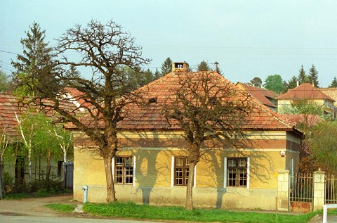 Framed House in Tokaj Village, Mad, Hungary Print