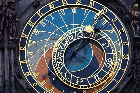 Framed Prague Astronomical clock Print