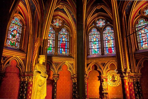 Framed Sainte Chapelle, Paris, France Print