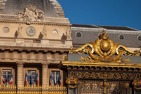Framed Gate to Palais de Justice, Paris, France Print